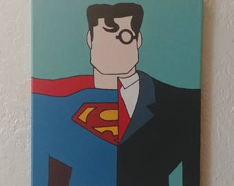 Superman Clark Kent Painting - 11x14