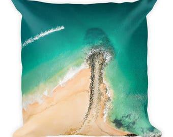 Pillow | Cushion | Drone Photography | Beach Landscape | Home Decor| 'Jetski on Point'