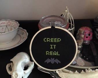 Creep It Real mini cross stitch