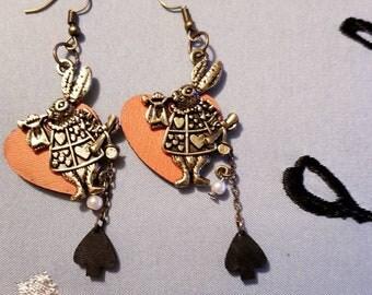 Alice in Wonderland Themed Earrings