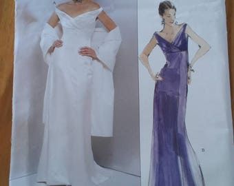 Badgley mischka evening or bridal gown pattern