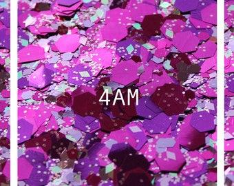4am | Chunky Glitter | Festival Glitter | Body Glitter | Glitter for Face | Cosmetic Glitter | Glitter for Body | Unicorn Glitter