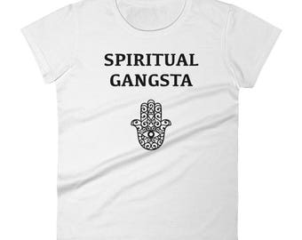 Spiritual Gangsta / Women's short sleeve t-shirt / Spiritual Gangster / Women Graphic Tee / yoga tee