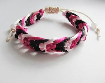 Satin Cord 3 colour bracelet