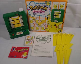 1990s Pokemon Pikachu Match Em Catch Em Board Game