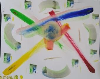 Four Colors--Original Acrylic Painting