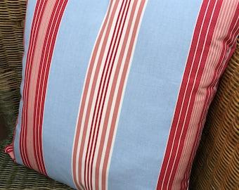 Custom made Lulu Stripe Pink & Blue Stripey Cushion Pillow