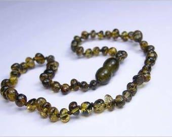 Genuine Baltic Grey Amber Necklace