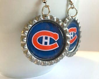Montreal CANADIENS Handcrafted Hockey Earrings