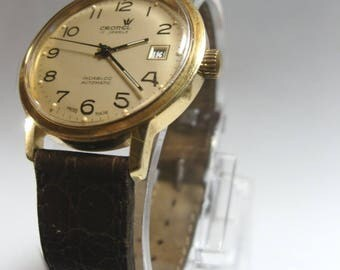 Cronel 17 Jewels Incabloc Automatic Swiss Made Gold plated vintage watch