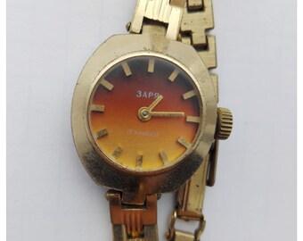 ZARJA Zarya Zaria mechanical Russian USSR Woman Vintage Watch 17 Jewels