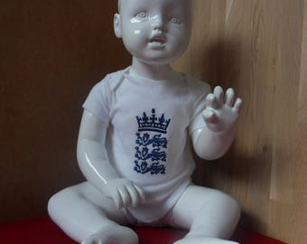 England Cricket Embroidered Babygrow Bodysuit Vest available in all sizes from 0-18 months