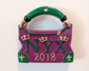 Mardi Gras 2018 Nyx Signature Throw Magnet - Krewe of Nyx