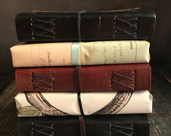 Leather Wrap Journal: Gift Wrapped, Old World, Coptic Binding, 240 Pages, 5 x 7