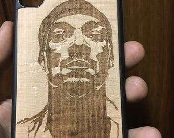 Wood Case for iPhone Snoop Dogg