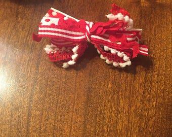 Red/White Polkadot Bow