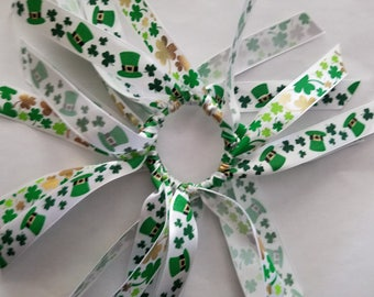 Shamrock St. Patrick's day hair tie