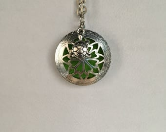 Essential oil charm necklace