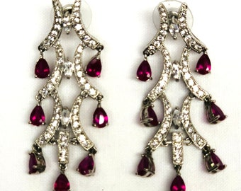 CZ's and Ruby earrings