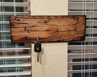 Wooden Magnetic Fractile Key Holder