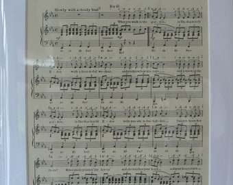 MOUNTED SHEET MUSIC - The Garden Of Eden