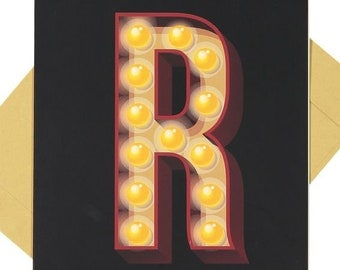 Letter 'R' - Blank Card