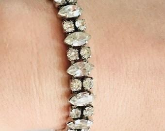 Signed Weiss rhinestone bracelet