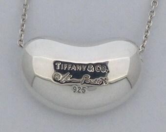 Tiffany & Co. Elsa Peretti Bean Pendant 925 Sterling Silver