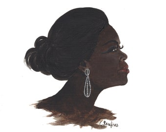 Oprah Silhouette - Original Acrylic Painting