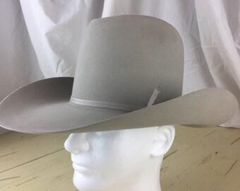 Vintage Western Cowboy Hat 1970's 5X Miller Bros. Never worn, Barn Find 6 7/8
