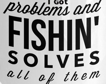 fishing coffee mug Got problems