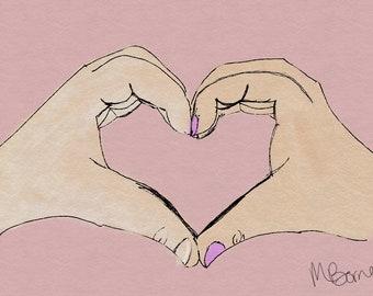 Heart Hands Print