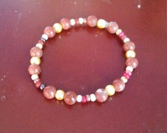 Pretty brown beaded bracelet
