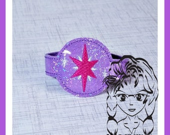 MLP TWiLIGHT Princess  WRiSTBaND ArM CaNDY Snap Tab, Holidays Halloween Birthdays - INSTANT Download Machine Embroidery Design by Carrie