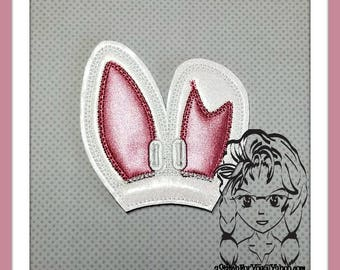 BUNNY Dbl EARs w/HoLES Center (Add On ~ 1 Pc) Mr Ms Mouse Ears Headband ~ In the Hoop ~ Downloadable DiGiTaL Machine Emb Design by Carrie