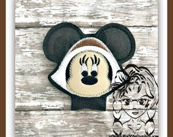 PILGRIM Ms Mouse Center or Ear (Add On ~ 1 Pc) Mr Miss Mouse Ears Headband ~ In the Hoop ~ Downloadable DiGiTaL Machine Emb Design by Carrie