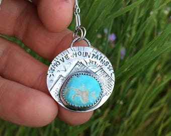 Move Moutains Royston Turquoise Pendant Necklace