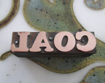 Coal Antique Letterpress Printing Block