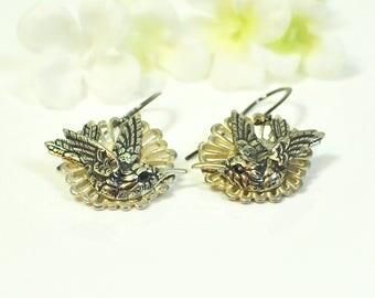Hummingbird Earrings Flight - Bird Jewelry - Nature Inspired - Hummingbird Jewelry - Bird Lover Gift - Bird Earrings - Nature Lover Gift