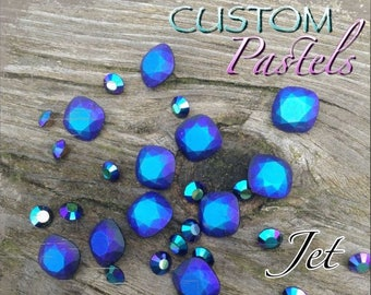 Swarovski Crystal Rivoli, #1122, 14mm, 4 pieces, *CUSTOM* Pastel Jet