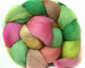 BABY ALPACA SILK CASHMERe roving top handdyed spinning fibre 3.5 oz