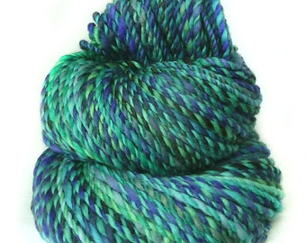 handdyed handspun superwash Merino wool yarn
