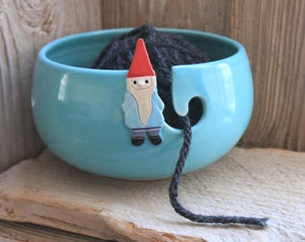 Garden Gnome Yarn Bowl - Custom Made 4-6 Weeks