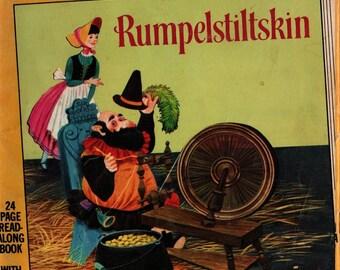 Rumpelstiltskin a Little Golden Book & Cassette - The Brothers Grimm - William J. Ducan - 1962 - Vintage Kids Book
