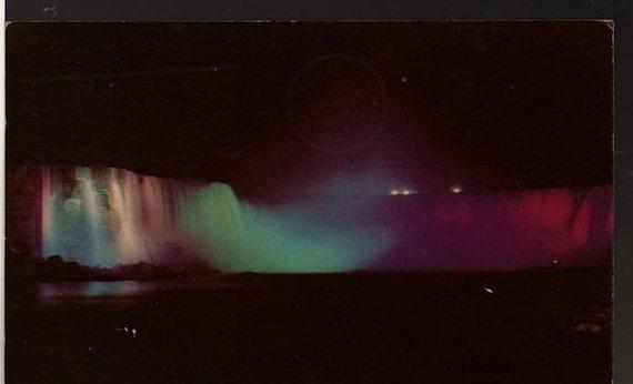 Horseshoe Falls - Niagara Falls, Ontario, Canada - 1954 - Vintage Curteich Postcard