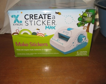 Create a Sticker Max, Xyron, Make Stickers, New in the Box, Permanent Adhesive, Acid Free