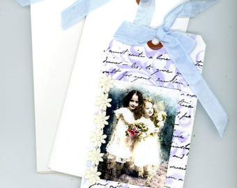 Gift tags, extra large tags, blank tags, journaling tags, art tags, plus sample embellished or painted tag with each order