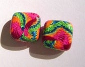 Bouquet Handmade Artisan Polymer Clay Bead Pair