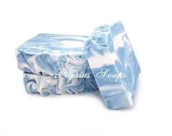New Seaside Cotton Cold  Process Soap Vegan Friendly -Skin Care-Bath Care
