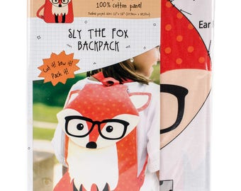 Sly The Fox Animal Backpack On Preprinted Fabric-